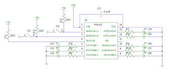 com led police emergency lights circuit click for a larger circuit diagram image
