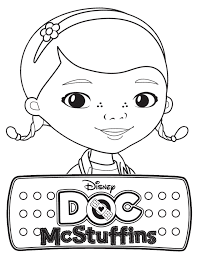 Coloring Pages For Kids Doc Mcstuffins Color Page Party Planning