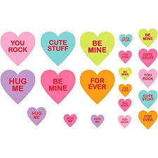 valentine s day candy hearts. Modren Candy Amazoncom Amscan Blushing Valentineu0027s Day Candy Hearts Printed Paper  Cutouts Party Decoration Mega Value Kit 30 Piece Multicolor One Size Toys U0026  And Valentine S