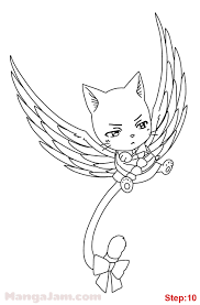 Fairy Tail Coloring Pages Happy