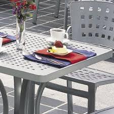 boulevard patterned aluminum tables