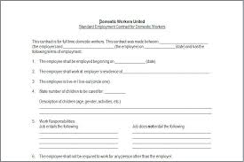 Child Care Worker Agreement Template Contract Employment