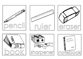 Small Picture School Supplies Coloring Pages Coloring Pages Online
