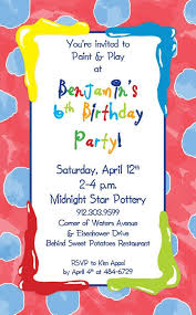 Example Invite Text For Paint Party Paint And Play