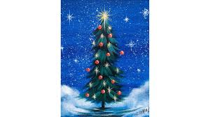 Simple Christmas Designs To Paint Simple Christmas Tree Step By Step Acrylic Painting On Canvas For Beginners