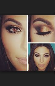 brown eye make up i need to get gold eye shadow