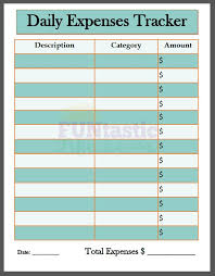 Free Printable Daily Expenses Tracker Funtastic Life