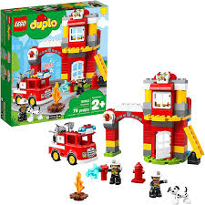 Lego Duplo Light And Sound Fire Truck Lego Duplo Town Fire Station 10903 Building Blocks 76 Pieces