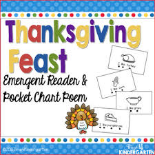 Pocket Chart Poems For Kindergarten Thanksgiving Emergent Reader And Pocket Chart Poem