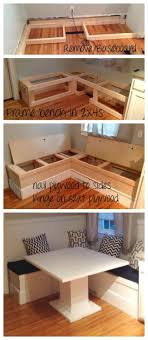 Diy Storage How To Build A Simple Storage Banquette Rehab Dorks Pinterest