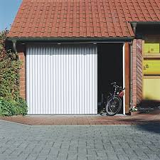 vertico aluminium electric round the corner garage door