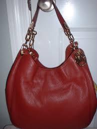 nwt michael kors fulton large leather shoulder tote handbag brick