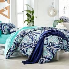 bed linen navy blue patterned bedding and white design elegant cobalt sheet set pillow whit