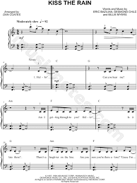 Do you have the sheet music o… Kiss The Rain Easy Piano Sheet Music Pdf