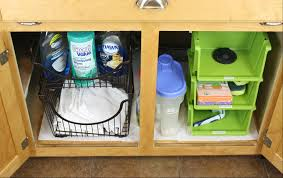 Under Kitchen Sink Organizing How To Organize Under Bathroom Sink Kireicocoinfo