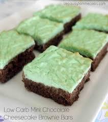low carb mint chocolate cheesecake brownie bars a sugar free sweet treat