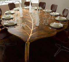 wood furniture design pictures. leaf shaped dining table made of solid wood unique furniture design pictures