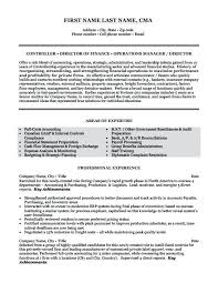 International Controller Resume Finance Controller Resume Sample ...