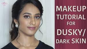 how to do makeup for dusky skin step by step easy makeup videos dark skin makeup tutorials
