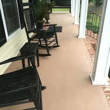 concrete patio after painted with granite grip paint colors porches patios