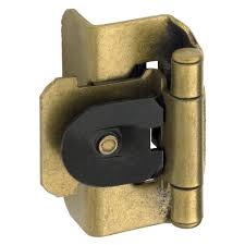Double Demountable Cabinet Hinges Amerock 1 2 In Burnished Brass Double Demountable Inset Hinge