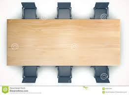 table and chairs top view. Delighful Top Top View On Conference Wooden Table And Black Chairs Intended Table And Chairs View E