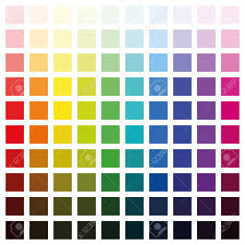 Spectrum Chart Color Spectrum Chart With Hundred Different Colors In Various