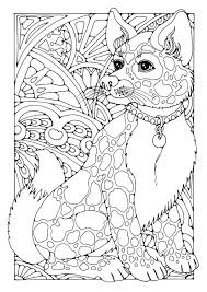 Adult Coloring Pages Of Dogs Free Coloring Library Stylized