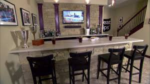 Man Caves DIY - Unfinished basement man cave ideas