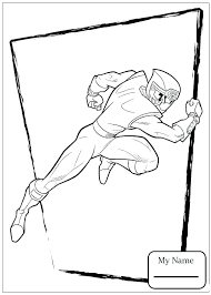 Dino Charge Coloring Pages Power Rangers Charge Coloring Page Red