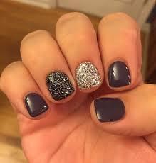best nail color 2019 fun winter short nail designs acrylic nail ideas silver accent nail