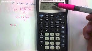 common calculator errors with quadratic formula