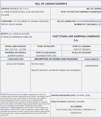 Example Of Bill Of Lading Document Bill Of Lading Letterofcredit Biz Lc L C