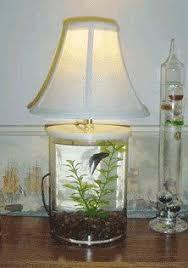 Betta Fish Tank, Desk Lamp, Table Lamp, Lamp Table, Betta Tank