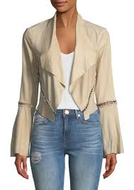 festival open front cropped stitched jacket