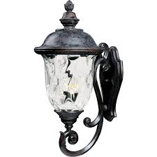 oriental outdoor lighting. carriage house vx 3light oriental bronze outdoor wall mount lighting