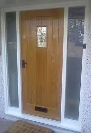 exterior door designs. Elegant Brown Wooden Front Doors Connected Directly With Double Glass Windows Of Entrancing Images Exterior Door Designs E