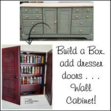 Making A Wall Cabinet Wall Cabinet Craft Storage Repurposed Doors My Repurposed Life