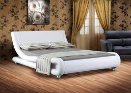 white faux leather bed.  Leather Italian Designer Faux Leather Double Or King Black White Chocolate Bed  Frame To