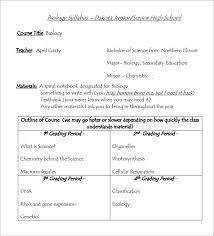 Syllabus Template High School Free 7 Sample Syllabus Templates In Pdf