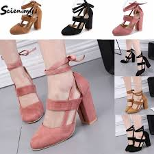 Plus <b>Size 34-43 Women</b> Sexy Party High Heels Ankle Strap ...