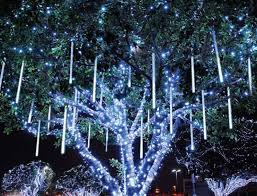 led snowfall lights and cascade lights emulate falling snow in the night sky led lights race down s in randomized patterns