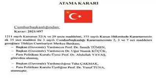 Erdoğan Merkez Bankası'nda 3 ismi görevden aldı, dolar coştu