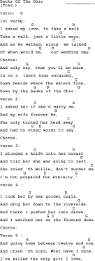 johnny cash song banks of the ohio lyrics and chords johnny cash song banks of the ohio lyrics and chords