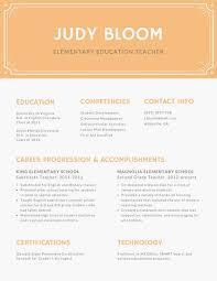 Peach Border Minimalist Resume