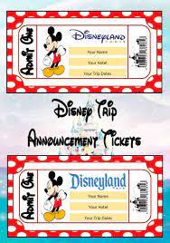 Personalised Disney Trip Announcement ...