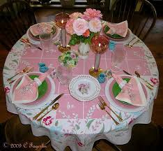 the little round table tablecloth fresh retro meadow reion plates sun porch fiesta produced by china specialties