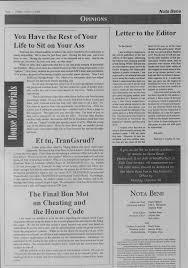 Nota Bene, October 6, 2000