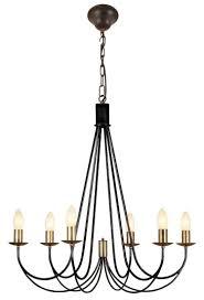 Romantischer Kerzen Kronleuchter Im Modernen Landhausstil