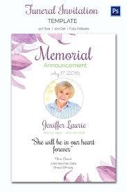 Sample Death Announcement Cards Funeral Announcements Invitation